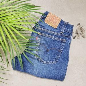 Vintage Levi's 701 Student Fit Distressed Jeans